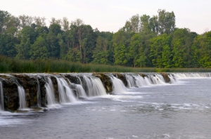 Kuldiga, largest waterfall of Europe