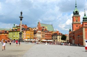 old town of Warsaw - rebuilt in 1949