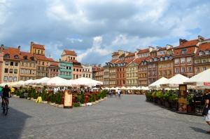 Old town of Warsaw - rebuilt in 1949