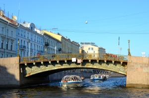 "one of the many Channels in St. Petersburg (this town is also called ""Venice of Russia"")"