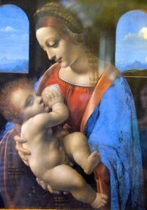 """Hermitage / Leonardo da Vinci (""""the lita Madonna"""")"""