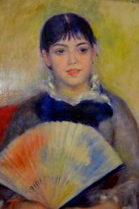 """Hermitage / Auguste Renoir (""""jeune femme à l'éventail"""")"""
