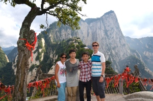 with our Chinese friends on the top of Mount Hua