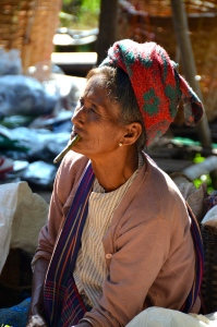 Old Woman, Inle Lake