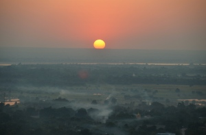 Sunset from Sagaing Hill