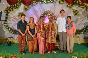 Mit dem Brautpaar