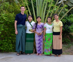 As guests, we were dressed in the traditional Myanmar dress.