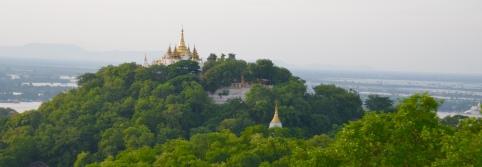 Pagoda around Sagaing Hill