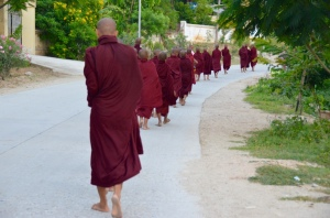 monks early in the morning